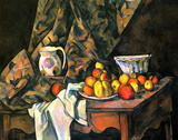 Paul Cezanne (Still life with apples and peaches) Art Poster Print Masterprint