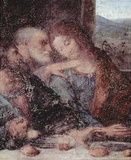 Leonardo da Vinci (The Last Supper, detail) Art Poster Print Masterprint
