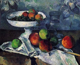 Paul Cezanne (Still Life with Fruit Bowl) Art Poster Print Masterprint
