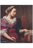Lorenzo Lippi (Allegory of Music) Art Poster Print Posters