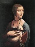 Leonardo Da Vinci (Cecilia Gallerani) Art Poster Print Masterprint