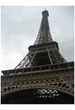 Paris, France (Eiffel Tower, From Below) Art Poster Print Photo