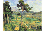 Paul Cezanne (Montagne Sainte-Victoire seen from Bellevue) Art Poster Print Photo