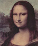 Leonardo da Vinci (Mona Lisa (La Giaconda), Detail: face of the Mona Lisa) Art Poster Print Masterprint
