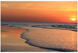Ocean Sunset (Beach) Art Poster Print Posters