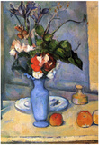 Paul Cezanne (Still life with blue vase) Art Poster Print Posters