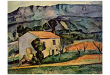 Paul Cezanne (House in Provence) Art Poster Print Poster