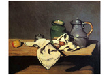 Paul Cezanne (Still life with green container and Zinnkessel) Art Poster Print Posters