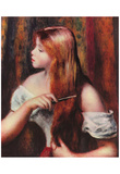 Pierre-Auguste Renoir (Girls when combing) Art Poster Print Posters