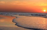 Ocean Sunset (Beach) Art Poster Print Masterprint