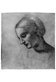 Leonardo da Vinci (Madonnas head) Art Poster Print Print