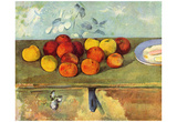 Paul Cezanne (Still life with apples and biscuits) Art Poster Print Posters