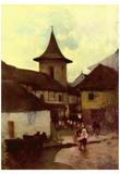 Nicolae Grigorescu (Catholic Church in Cimpulung) Art Poster Print Posters