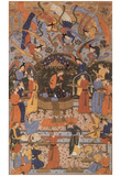 Persian masters (Schahnama of Firdausi, Scene: Queen of Sheba) Art Poster Print Posters