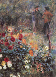Pierre Auguste Renoir (The Garden in the Rue Cortot) Art Poster Print Masterprint