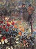 Pierre Auguste Renoir (The Garden in the Rue Cortot) Art Poster Print Masterprint