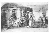 Rembrandt Harmensz. van Rijn (Naming of John the Baptist) Art Poster Print Prints
