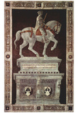 Paolo Uccello (Painted equestrian statue of Giovanni Acuto (John Hawkwood)) Art Poster Print Prints