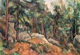 Paul Cezanne (In the woods) Art Poster Print Masterprint