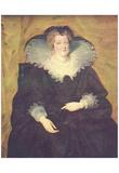 Peter Paul Rubens (Portrait of Maria de 'Medici, Queen of France) Art Poster Print Photo