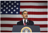 President Barack Obama (Giving Speech) Art Poster Print Plakater