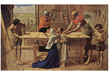 Sir John Everett Millais (Jesus in his parents' house (The workshop of the Carpenter)) Poster Print Posters