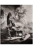Rembrandt Harmensz. van Rijn (The Good Samaritan) Art Poster Print Prints