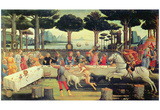 "Sandro Botticelli (Series of four paintings to Boccaccio's ""Decameron,"" ""Feast of Nastagio degli On Posters"