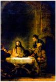 Rembrandt Harmensz. van Rijn (Christ at Emmaus) Art Poster Print Poster