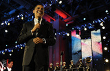 President Barack Obama (Inauguration Day, At The Commander-in-Chief's Ball) Art Poster Print Masterprint