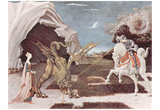 Paolo Uccello (St. George fighting the dragon) Art Poster Print Photo
