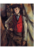 Paul Cezanne (Boy with a red vest) Art Poster Print Prints