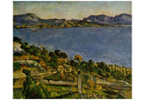 Paul Cezanne (The sea at l'Estaque) Art Poster Print Prints