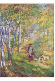 Pierre-Auguste Renoir (Young man in the forest of Fontainebleau) Art Poster Print Prints