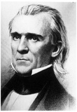 President James K Polk (Portrait, Face) Art Poster Print Prints
