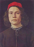 Sandro Botticelli (Portrait of a young man) Art Poster Print Masterprint
