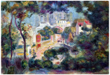 Pierre-Auguste Renoir (Landscape with view of Sacre-Coeur) Art Poster Print Posters