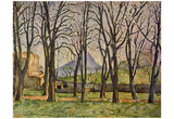 Paul Cezanne (Chestnut Trees at the Jas de Bouffan) Art Poster Print Posters