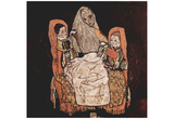 Egon Schiele (Mother with two children (the mother)) Art Poster Print Prints