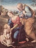 Raffael (Holy Family with a Lamb) Art Poster Print Masterprint
