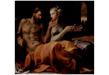 Primaticcio and Francesco (Odysseus and Penelope) Art Poster Print Posters