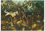 Pieter Brueghel (Fall of angels) Art Poster Print Poster