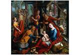 Pieter Aertsen (Adoration of the Magi) Art Poster Print Photo