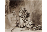 Rembrandt Harmensz. van Rijn (The return of the prodigal son) Art Poster Print Posters