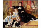 Pierre-Auguste Renoir (Madame Charpentier and her Children) Art Poster Print Photo