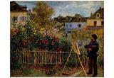 Pierre-Auguste Renoir (Monet painting in his Garden in Argenteuil) Art Poster Print Posters