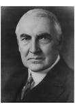 President Warren Harding (Portrait) Art Poster Print Prints