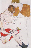 Egon Schiele (Love couple) Art Poster Print Masterprint