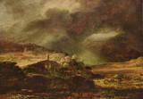 Rembrandt Harmensz. van Rijn (City on a hill at stormy weather) Art Poster Print Masterprint