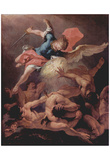 Sebastiano Ricci (Overthrow of the rebellious angels) Art Poster Print Print